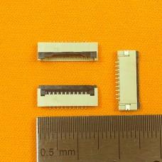 FFC Разъем 10pin*1.0mm, Flip type, контакты внизу