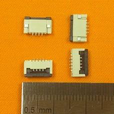 FFC Разъем 4pin*1.0mm, Flip type, контакты внизу