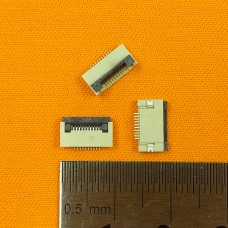 FFC Разъем 10pin*0.5mm, Flip type, контакты внизу