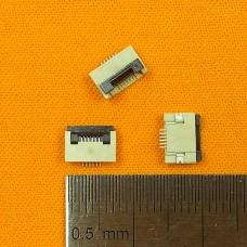FFC Разъем 6pin*0.5mm, Flip type, контакты внизу