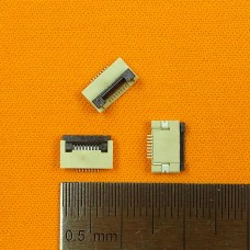FFC Разъем 8pin*0.5mm, Flip type, контакты внизу