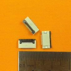 FFC Разъем 12pin*0.5mm, Flip type, контакты внизу
