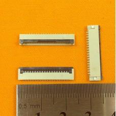 FFC Разъем 18pin*1.0mm, Flip type, контакты внизу