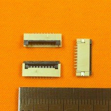 FFC Разъем 8pin*1.0mm, Flip type, контакты внизу