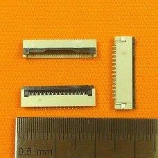 FFC Разъем 14pin*1.0mm, Flip type, контакты внизу