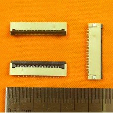 FFC Разъем 16pin*1.0mm, Flip type, контакты внизу