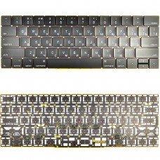 """Клавиатура для Apple MacBook Pro A1707 15"""" RU (черная, с подсветкой)"""