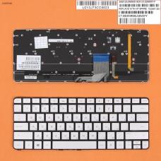 Клавиатура HP Spectre 13-3000 13-3040eg 13-3011ea RU (с подсветкой, серебристая, Original)
