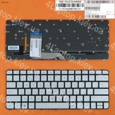 Клавиатура HP Spectre x360 13-4000 13-4100 13-4200, RU (серебристая, с подсветкой, Original)