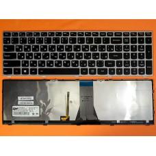 Клавиатура Lenovo IdeaPad g50-30 G50-70 Z50-70 B50-30 B50-45 Z51-70 500-14ACZ 500-15ISK RU (черная, серая рамка, с подсветкой, Original)