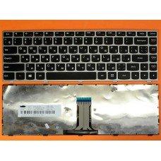 Клавиатура Lenovo G40-70 Flex 2-14 RU (черная с серой рамкой, Original)