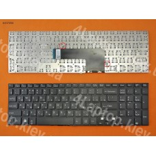 Клавиатура SONY VAIO SVF15 series, RU (черная, без рамки, Original)