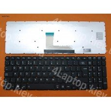 Клавиатура Toshiba Satellite L50-B S50-B L50D-B L50T-B L50DT-B L55(D)-B S55-B S55T-B S55D-B UK (чёрная, без рамки, Original)