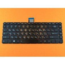 Клавиатура Toshiba Satellite L40-B RU (чёрная глянцевая, без рамки, с подсветкой, Original)