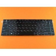 Клавиатура Toshiba Satellite L40-A C40d RU (чёрная, глянцевая рамка, с подсветкой, Original)