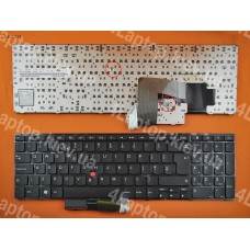 Клавиатура Lenovo Thinkpad E520 E525 UK (чёрная, с поинтстиком)