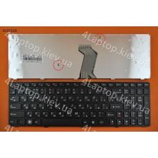 Клавиатура Lenovo Lenovo Y570 RU чёрная, чёрная рамка