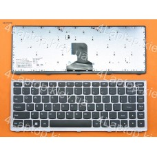 Клавиатура Lenovo Z400 Silver Frame Black (For Win8) US