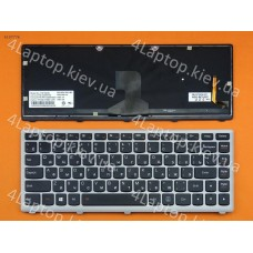 Клавиатура Lenovo Z400 Silver Frame Black Backlit (For Win8) Ru