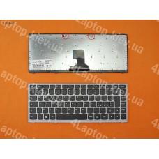 Клавиатура Lenovo Z400, Чёрная, серебристая рамка, win8, IT