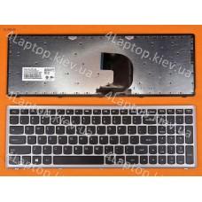 Клавиатура Lenovo Z500 Silver Frame Black(Win8) Us