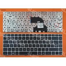 Клавиатура HP ProBook 4330S 4331S 4430S 4431S 4435S 4436S Series, US, чёрная, серебристая рамка