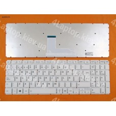 Клавиатура Toshiba L50-B SP белая (без рамки, Win8)
