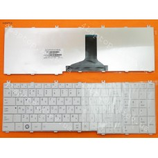 Клавиатура Toshiba Satellite C650 Satellite Pro C650. RU,Белая глянцевая