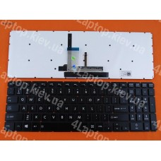 Клавиатура Toshiba Satellite L50-B US (чёрная, без рамки, с подсветкой, Original)