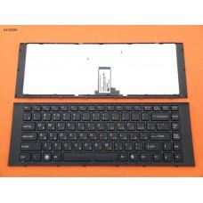 Клавиатура Sony Vaio VPC-EG VPC-EK чёрная, чёрная рамка