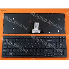 Клавиатура SONY VPC-EB US, чёрная, с чёрной рамкой