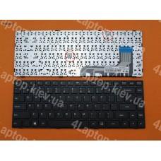 Клавиатура Lenovo Ideapad 100-14 US чёрная, с чёрной рамкой