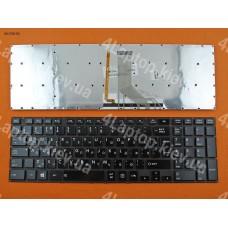 Клавиатура Toshiba Satellite P50 RU чёрная глянцевая без рамки с подсветкой