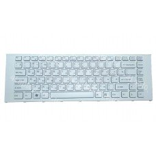 Клавиатура SONY VPC-EA RU белая с рамкой