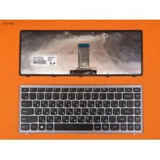 Клавиатура Lenovo Flex 14 G400s, RU, чёрная, серая рамка, Original