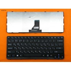 Клавиатура Sony Sve14 Black Frame Black (For Win8) RU