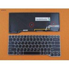 Клавиатура Fujitsu LifeBook E544 E733 E734 E736 E743 E744 E746 US (черная, серая рамка, с подсветкой)