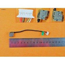 Разъем питания для HP 250 255 G4 G5, HP 15-ac Series, PJ799 PJ852, (с проводом/кабелем 12 см)