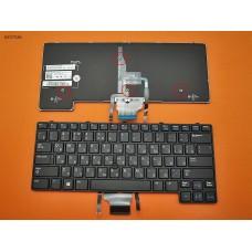 Клавиатура для Dell Latitude E6430u, RU, (черная, с подсветкой, поинтстик, Original)