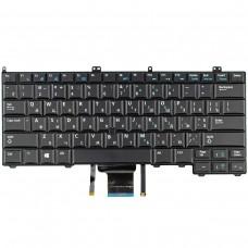 Клавиатура для Dell Latitude E7440 E7420 E7240, RU/UA, (черная, с трекпоинтом, с подсветкой)