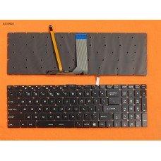Клавиатура MSI WS60 GE62 GE72 US чёрная (цветная подсветка, без рамки)