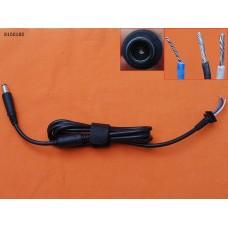 DC Кабель для блока питания Dell, HP 7.4*5.0, (90W, 1.5м, 0.6мм2, медный, с ферритом)