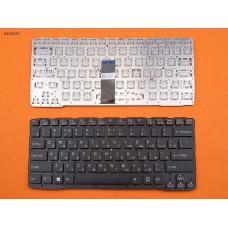 Клавиатура SONY SVE14A RU (чёрная, красные торцы, под подсветку, без рамки)