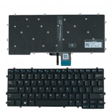 Клавиатура для Dell Latitude 7370 E7370, US, (чёрная, с подсветкой, Original)