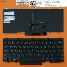 Клавиатура для Dell Latitude E5450 E7450, RU (черная, с подсветкой, с поинтстиком, Original)