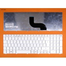 "Клавиатура Gateway Id 15.6"" Nv50 , Packard Bell Tm81 Tm86 Tm87 Tm89 Tm94 Tx86, PO, белая"