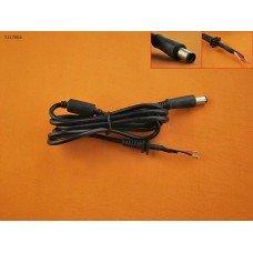 DC Кабель для блока питания ноутбука Dell, HP 7.4*5.0 (65W, 1.2м, 0.3мм2, медный, с ферритом), K211