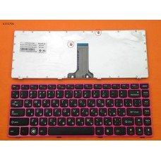 Клавиатура Lenovo Ideapad Z370 Z470 RU (чёрная с красной рамкой)