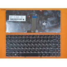 Клавиатура Lenovo Ideapad Z370 Z470 RU (чёрная с розовой рамкой)