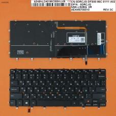 Клавиатура Dell XPS 13 9343 9350 7347 7348 RU (чёрная, с подсветкой, Original)